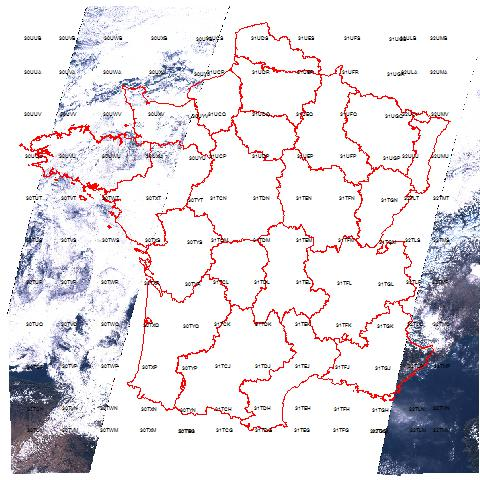 2016 Sentinel 2 images over France